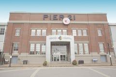 Kanadensiskt museum av invandring på pir 21 Halifax Fotografering för Bildbyråer