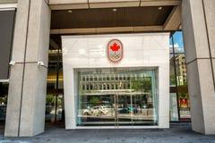 Kanadensiskt olympiskt hus i Montreal Royaltyfri Bild