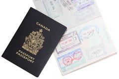 kanadensiskt pass Fotografering för Bildbyråer