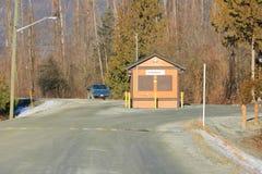Kanadensiskt porthus- eller avgiftbås arkivfoto
