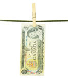 Kanadier Dolar-Banknoten Stockbild