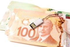 Kanadische Banknoten stockbilder