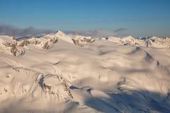 Kanadische Berge von der Luft Stockfoto