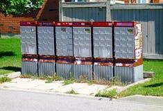 Kanadische Briefkästen Stockbild