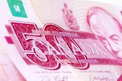 Kanadische Dollarscheine Lizenzfreies Stockbild