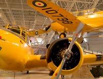 Kampfflugzeuge im Museum stockbild