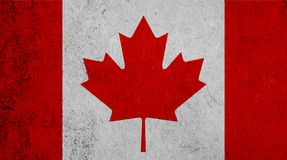 Kanadische Flagge auf Papierhintergrund Lizenzfreie Stockfotografie