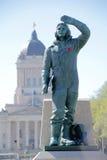 Kanadische Flieger-Statue lizenzfreie stockbilder
