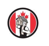 Kanadische Haus-Abbau-Kanada-Flaggen-Ikone Lizenzfreies Stockbild