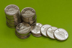 Kanadische Münzen Stockbild