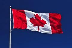 Kanadische Markierungsfahne Lizenzfreies Stockfoto