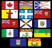 Kanadische Markierungsfahnen Stockbilder