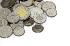 Kanadische Münzen Stockfoto
