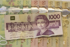 Kanadische Rechnungen Stockfotos