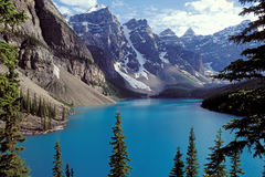 Kanadische Rockies - dayscene 1 Lizenzfreie Stockbilder