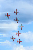 Kanadische Snowbirds-Show Stockfoto