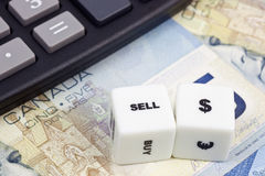 Kanadischer Dollar des Verkaufs Lizenzfreie Stockbilder