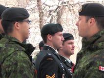 Kanadischer Soldat an der Erinnerung-Tageszeremonie Lizenzfreies Stockbild