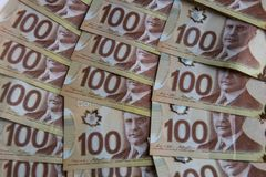 Kanadisches Geld Stockfotos