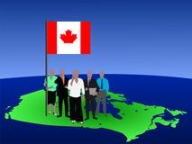 Kanadisches Geschäftsteam lizenzfreie abbildung