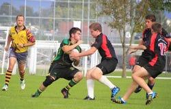 Kanadisches Jungen-Rugby-Match Stockfoto