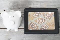 Kanadisches on-line-Investitionskonzept Lizenzfreie Stockfotos
