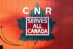 Kanadisches nationales Bahnzeichen lizenzfreies stockbild