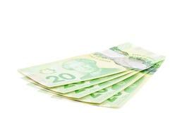 Kanadyjczyk Dwadzieścia Dolarowych rachunków -5 fotografia stock