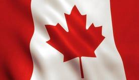 Kanadyjczyk flaga - Kanada liść klonowy fotografia royalty free