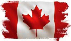Kanadyjczyk flaga - Kanada liść klonowy fotografia stock