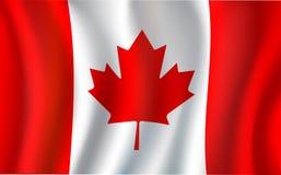 Kanadyjczyk flaga, liścia klonowego 3d Kanada symbol royalty ilustracja