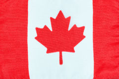 Kanadyjczyk flaga robić płótno obraz royalty free