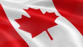 Kanadyjczyk flaga w wiatrze Zdjęcie Stock