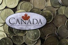 Kanadyjczyk jeden dolara monety z kanadyjczykiem zaznacza zdjęcia royalty free