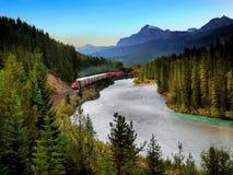 Kanadyjczyk Pacyficzna kolej, pociąg towarowy obraz stock