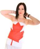 Kanadyjczyk Sportsfan fotografia stock