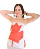 Kanadyjczyk Sportsfan zdjęcia stock