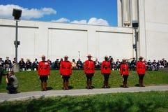 kanadyjczyk wspinający się milicyjny królewski Zdjęcia Royalty Free