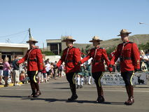 kanadyjczyk wspinający się milicyjny królewski obraz royalty free