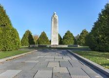 Kanadyjczyk WW Ja wojenny pomnik w Langemark, Belgia Fotografia Stock