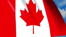 Kanadyjczyka chorągwiany falowanie na wiatrze zbiory
