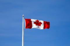 Kanadyjczyka chorągwiany latanie Fotografia Royalty Free