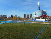 Kanadyjczyka Cyclocross mistrzostw Winnipeg 2014 kurs Zdjęcia Royalty Free