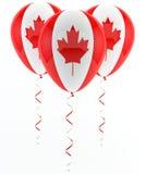 Kanadyjscy balony - flaga Fotografia Royalty Free