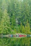 kanadyjscy czółna Zdjęcia Royalty Free