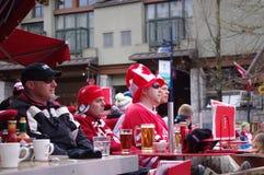 Kanadyjscy wielbiciele sportu Zdjęcia Stock