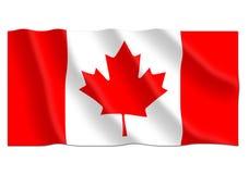 Kanadyjska falowanie flaga Zdjęcia Royalty Free
