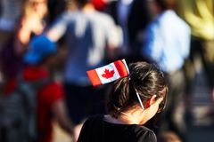 Kanadyjska sprawy flaga fotografia royalty free