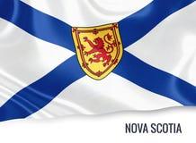 Kanadyjska stanu nowa Scotia flaga Zdjęcie Royalty Free