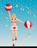 Kanadyjski chirliderka Kanada fan Zdjęcia Royalty Free